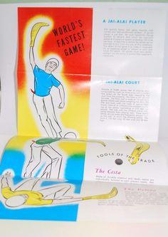 Vtg Lot of 60s Jai Alai Daytona Beach Bumper Sticker Primer Fronton | eBay
