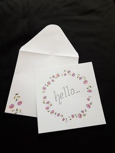 handlettering rose hello