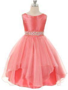 Vestidos coral de fiesta para niñas 3