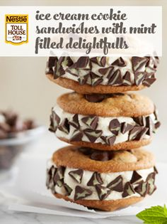 Ice Cream Cookie Sandwiches with Mint Filled DelightFulls