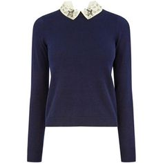 OASIS Embellished Collar Knit