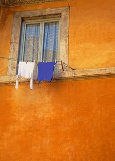 Audrey, 10/8: This picture of a wall in Rome is a really great example of complementary colors at work. I also really love the saturation of both colors, especially when balanced with the white and the neutral color of the window frame.