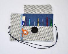 Vintage Blue Crochet Tool Organizer by MillionsofStitches, $20.00 USD