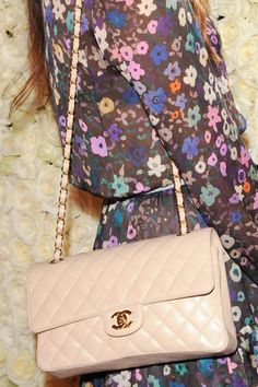 Quilted blush Chanel + Floral