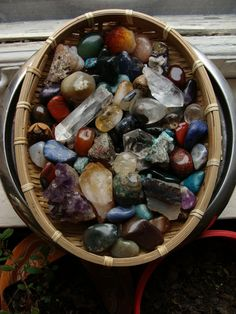 rock collecting. willing to bet you didn't know I have a rock collection. :)