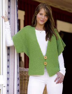 Fast Knit Vest pattern by Camilla Krogsgaard Knit Cardigan Pattern, Crochet Jacket, Sweater Knitting Patterns, Crochet Cardigan, Crochet Shawl, Hand Knitting, Knit Crochet, Quick Knits, Crochet Clothes