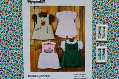 1-4: Creative Keepsakes Vintage Girls Dress Buckle Jumper Pattern for Smocking or Applique, Lined and Reversible. Includes Sizes 1, 2, 3, 4 www.etsy.com/shop/petitpoesy
