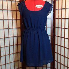 Blue Bird Fun Navy Blue Mini Dress