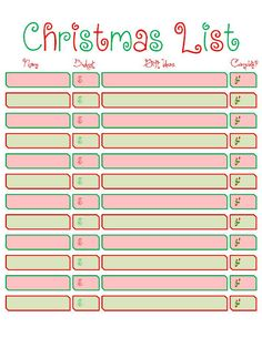 photo about Printable Christmas Shopping List known as 8 Perfect Xmas Browsing pictures in just 2013 Xmas