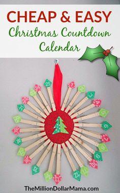 Cheap and easy DIY Christmas countdown calendar - the perfect DIY advent calendar to make this Christmas!