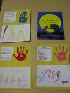 The Kissing Hand - first day of school activity with poem