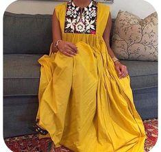 African Attire, African Wear, Arab Fashion, African Fashion, Day Dresses, Nice Dresses, Long African Dresses, Embroidery Fashion, Pattern Fashion