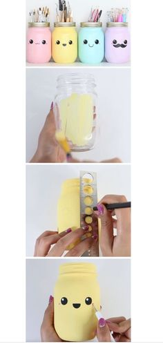Pastel Mason Jar Storage DIY Spring Room Decor Ideas for Teens Awesome Decor Ideas for the Home on a Budget Kids Crafts, Diy And Crafts, Craft Projects, Craft Ideas, Spring Projects, Fun Ideas, Project Ideas, Decor Crafts, Easy Crafts