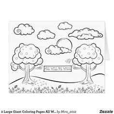 2 Large Giant Coloring Pages All Will Be Well Love Card #giantcoloringcards #largecoloringbooks #giantallwillbewellcards #giantlovecards #giantcoloringlovebooklets #jumbocoloringlovecards