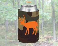 Deer Hunting Camo Can Coolie. $6.50, via Etsy.