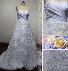Charming sweetheart natural waist aline by Loveannaweddingdress, $319.00