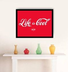 poster life is cool - 30x40 cm