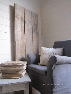 landelijke stoel grijs