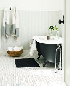 Black and white bathroom inspiration from Amy Neunsinger Photography.