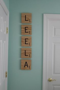 Definitely want this! eep I'm running out of space on the baby room wall fast! But there will ALWAYS be room for scrabble pieces! Pic from imgfave.com