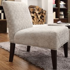 INSPIRE Q Peterson Grey Link Slipper Chair - Overstock™ Shopping - Great Deals on INSPIRE Q Living Room Chairs