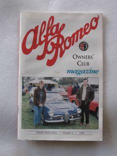 Alfa Romeo Owners Club Magazine Vol 33 Number 3 1999