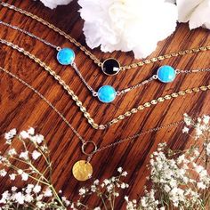 Dainty boho layering chokers and necklaces