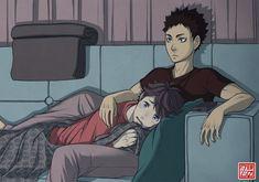 Aww. They look so cute. Oikawa. Iwazumi. Haikyuu