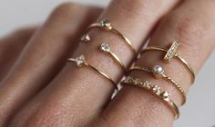 Adore these rings http://shoplumo.com/collections/14k-rings