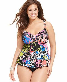 Plus Size Tankini - Plus Size Swimwear - Plus Sizes - Macy's