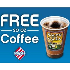 Free Coffee at Stripes  - http://freesampleswithoutsurveysorparticipation.com/free-coffee-at-stripes