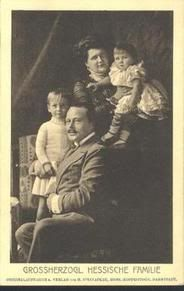 Family portrait.  Ernst Ludwig, Eleanore and sons.