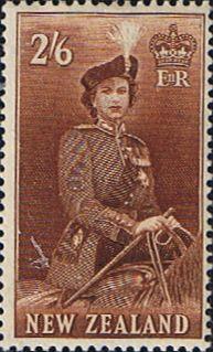 New Zealand 1953 Queen Elizabeth SG 733d Fine Mint Scott 28b Other New Zealand Stamps HERE