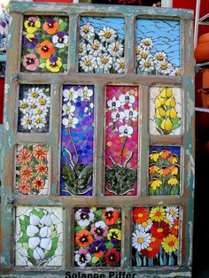 Solange piffer Mosaicos - SP-Brasil Love the bright colors in this glass mosaic!