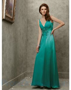 2e2b7eacd6a Buy Tailor-Made V Neck Chiffon Backless Teal Prom Dresses With A satin  Overlay!