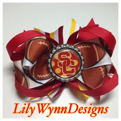 USC Trojan Football Hair Bow Clip