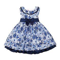 jcp | Nanette Baby Sleeveless Blue Floral Dress - Girls 2-4t