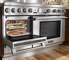 The Thermador Pro Grand Steam Range Cooker . . . pure awesomeness for your kitchen.    http://www.appliancist.com/ranges/thermador-pro-grand-steam-range-48-inch-oven_.html#more