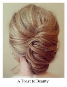 1950's inspired bridal hairstyles updo french twist. vintage bridal hair and makeup by A Toast to Beauty