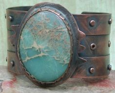 COPPER CUFF BRACELET Gladiator Style. $65.00, by Silver Seahorse Design Studio, via Etsy.