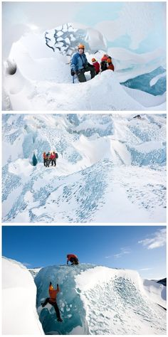 Blue Ice Glacier Hiking & Ice Climbing Tour. Seems crazy...but I want to do it!