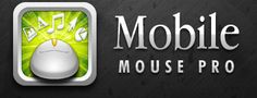 Mobile Mouse is an app that lets you use your iPad or mobile device as a mouse to control your computer at a distance.
