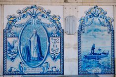 Azulejos of Caldas da Rainha Railway Station Portugal, Train Stations, Photo L, Past, Night, Gallery, Artwork, Painting, Portuguese Tiles