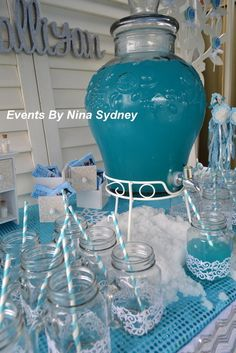 Frozen Birthday Party Ideas @Maureen Praeger look at these jars
