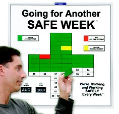 """Safety-Awareness is Real when Employees build an """"Accident-Free"""" Green SafetyCross® Visual Management, Business Management, Project Management, Lean Manufacturing, Safety Awareness, Powerpoint Free, Safety Posters, Electrical Safety, Safety First"""