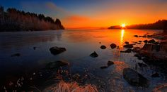 the country of my ancestors. My Ancestors, Celestial, Sunset, Country, Water, Photography, Outdoor, Finland, Gripe Water
