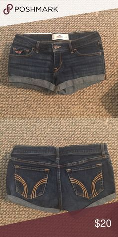 Hollister shorts Denim Hollister shorts, size w24, like new Hollister Shorts Jean Shorts