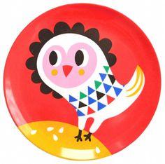 Helen Dardik Owl melamine plate