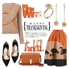 """""""Happy Thanksgiving!"""" by littlehjewelry ❤ liked on Polyvore featuring MSGM, Paul Andrew, Foley + Corinna and Borghese"""