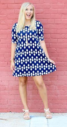 Summer Rain Swing Dress from Sugar Boutique